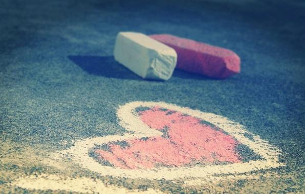 Picture asphalt, photo, heart, figure, Mel