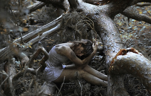 Picture forest, girl, tree, dirt, bokeh, The Spriggan-2