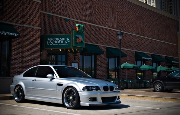 Picture tuning, BMW, BMW, silver, tuning, E46