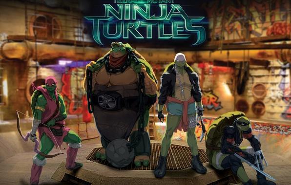 Picture Teenage mutant ninja turtles, tmnt, Raphael, Leonardo, Donatello, Teenage Mutant Ninja Turtles, Michelangelo