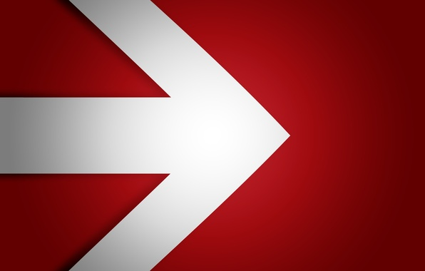 Picture red, white, black, arrow