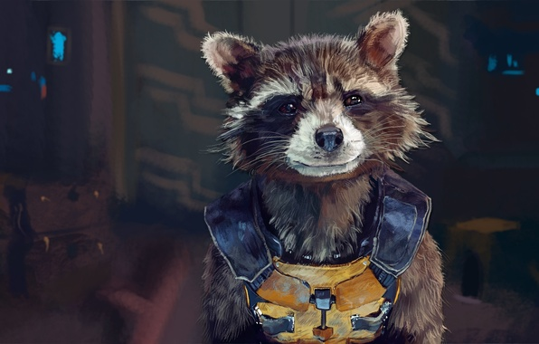 Picture raccoon, art, rocket, raccoon, guardians of the galaxy