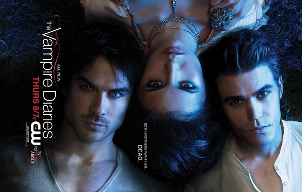 Photo wallpaper Nina, The Vampire Diaries, Ian, Pole