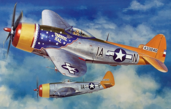 P 47 Thunderbolt Wallpaper Wallpaper war, art, pa...