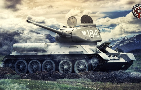 Picture Game, USSR, Games, Art, World of Tanks, T-34-85, FuriousGFX