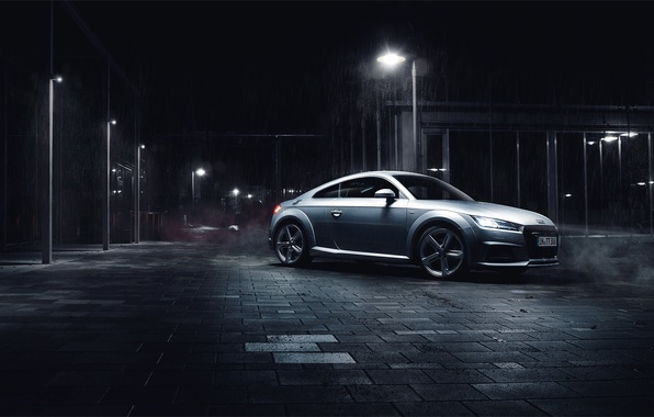 Picture Audi, night, silvery