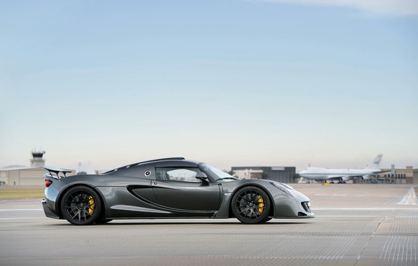 Picture The plane, Machine, Hennessey, Coupe, Venom, The view from the side
