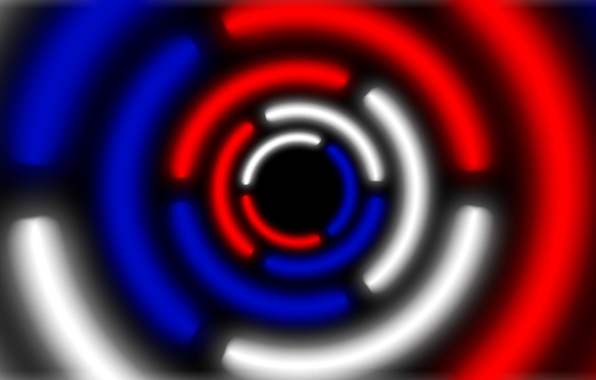 Picture white, blue, red, round, red, white, Russia, blue, russia, krug, abstractions