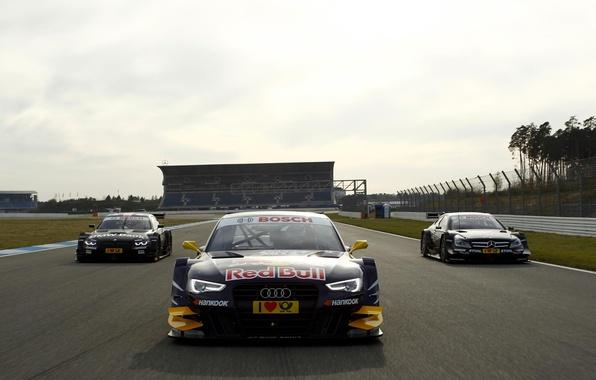 Picture blue, red, Audi, race, BMW, Mercedes-Benz, track, BMW, Tits, race, helmet, spoiler, 2012, track, Mercedes, …