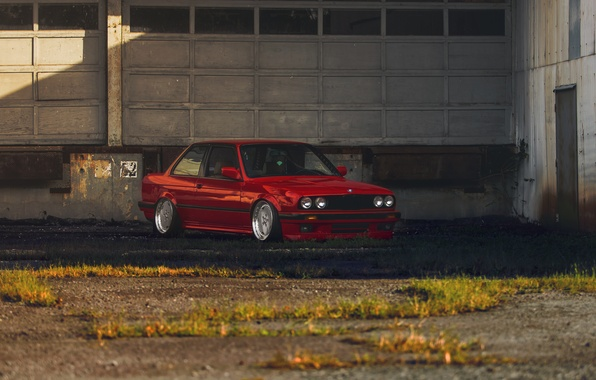 Picture BMW, BMW, red, red, tuning, e30, The 3 series
