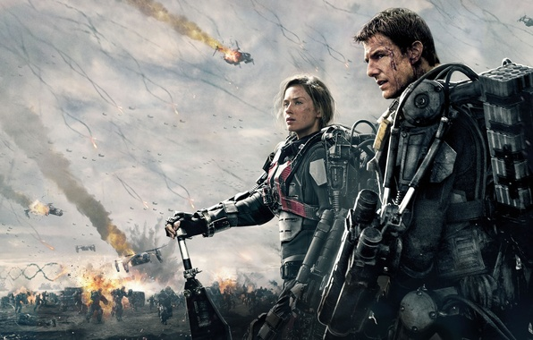 Picture Girl, Action, Metal, Fantasy, Sky, Fire, Men, Emily Blunt, Edge, War, Women, Woman, Boy, Tom ...