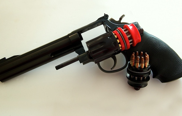 Picture gun, weapons, cartridges, revolver, drum, Smith & Wesson