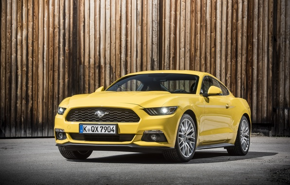 Wallpaper coupe, Mustang, Ford, Mustang, Ford, 2015, EU-spec