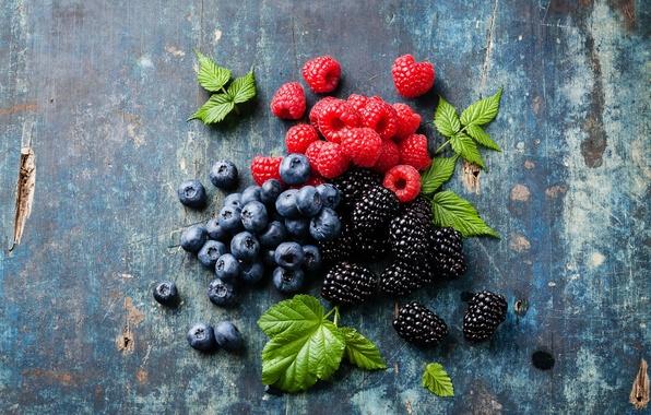 Picture berries, raspberry, photo, food, blueberries, BlackBerry, blueberries