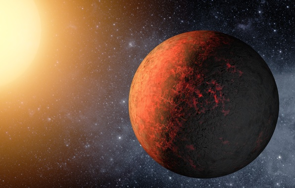 Picture red, planet, kepler 20e
