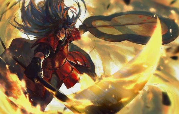 Picture weapons, anime, art, guy, Naruto, Uchiha Madara