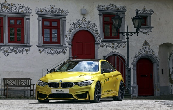 Picture bench, house, street, Windows, BMW, door, BMW, area, lantern, facade, F82, 2015, VOS