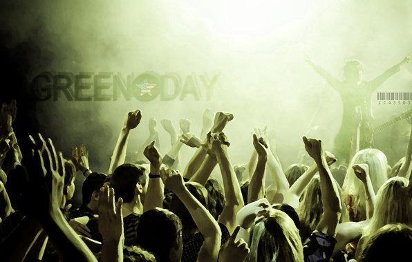 Picture music, group, concert, green day