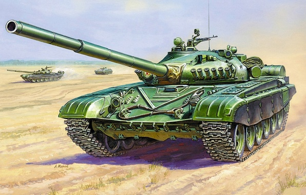 Picture field, the battle, Tank, Ural, THE T-72A, battle tank
