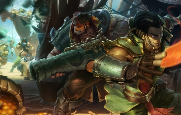 Picture art, lol, League of Legends, Twisted Fate, Cutthroat Graves