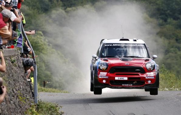 Picture Red, Speed, People, Red, Mini Cooper, WRC, Rally, MINI, Mini Cooper