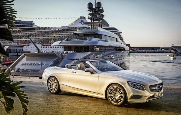 Picture Mercedes-Benz, yacht, convertible, Mercedes, 2015, S 500, A217