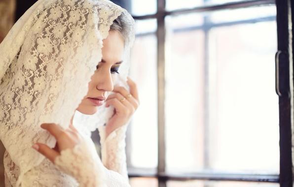 Picture light, hood, lace, photographer, window, face, Galina Tcivina, Galina