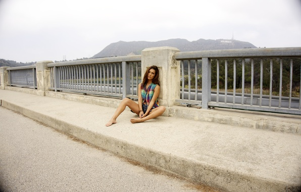 Picture Hollywood, girl, USA, United States, woman, bridge, Los Angeles, California, model, female, America, dam, United …
