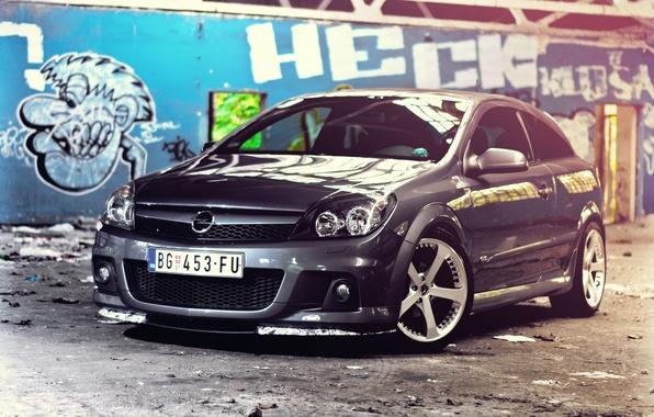 Picture Auto, Wall, Graffiti, Machine, Opel, Garbage, Astra