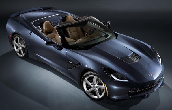 Picture car, Corvette, Chevrolet, supercar, wallpapers, Convertible, Stingray