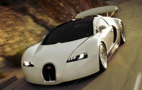 Picture bugatti, white, new