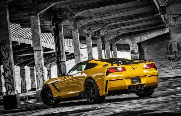 Picture Corvette, Chevrolet, columns, Chevrolet, Corvette, Stingray, HPE700, 2015, Stingray, Ruffer Performance