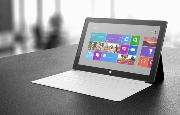 Picture Microsoft, White, Windows 8, Hi-Tech, Tablet, Surface 2