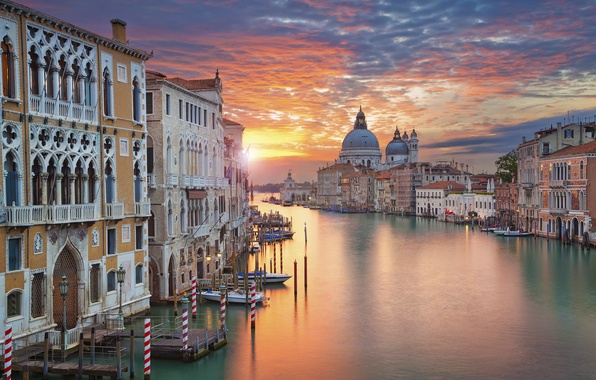 Picture dawn, home, morning, Italy, Venice, Cathedral, channel
