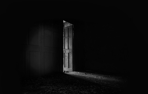 Picture light, room, the door