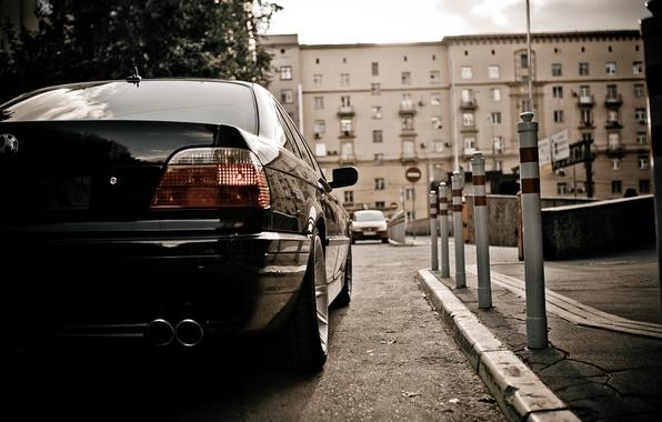 Picture Wallpaper, lights, BMW, Car, wallpapers, Boomer, seven, Beha, E38, BMW 750