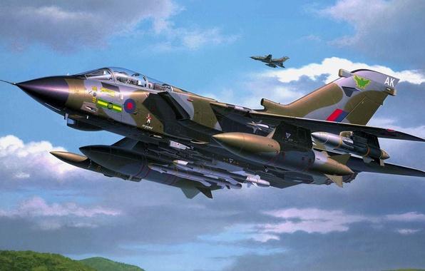 Picture figure, art, fighter-bomber, Panavia Tornado