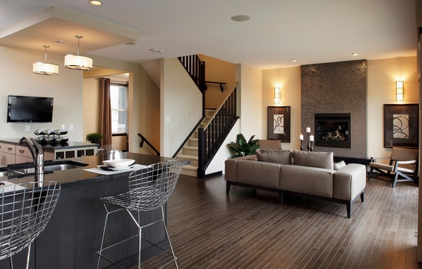 Picture design, style, room, sofa, furniture, chairs, interior, ladder