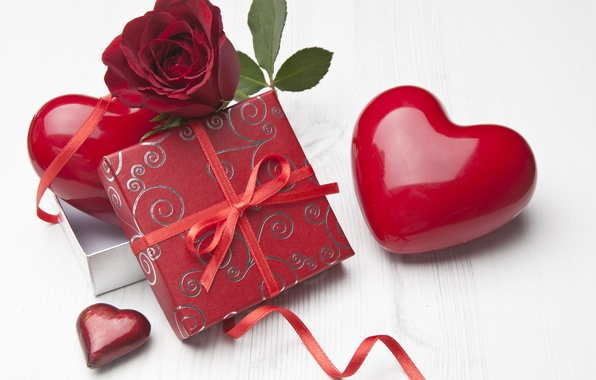 Picture photo, Flowers, Heart, Roses, Holiday, Different, Gifts, Burgundy