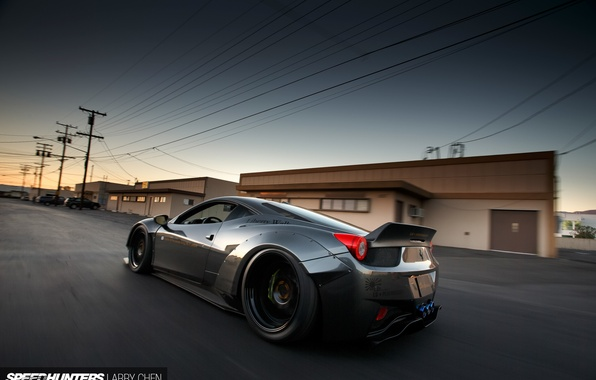 Picture road, speed, Ferrari, 458, speedhunters, Liberty Walk