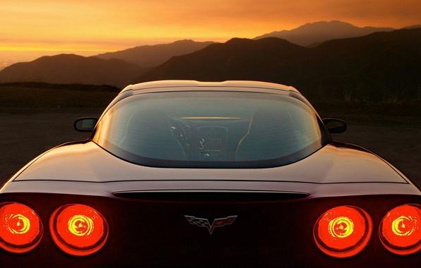 Picture sunset, lights, logo, Ass