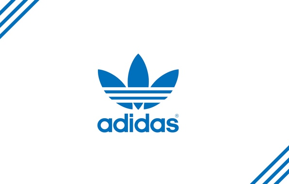 Picture strip, blue, logo, logo, Adidas, adidas, firm