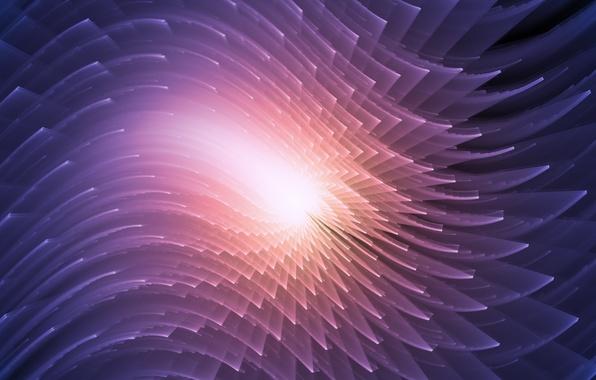 Picture fractals, glow, curves, fractal pattern