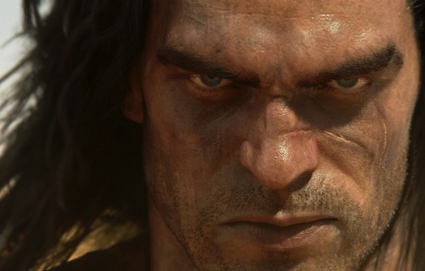 Picture look, hair, male, bristles, scar, Funcom, Conan Exiles