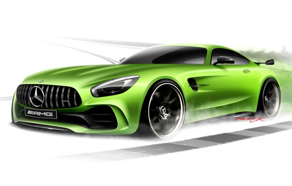 Photo wallpaper Mercedes-Benz, white background, Mercedes, AMG, GT3, C190