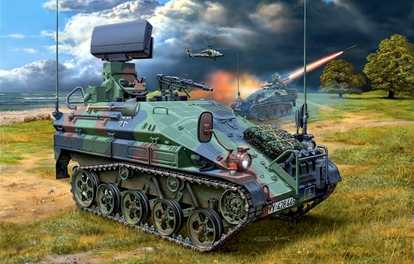 Picture figure, Germany, landing, BMD, airborne combat vehicle, wiesel 2
