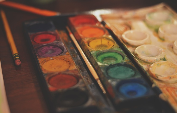 Picture paint, colored, brush, brush, different