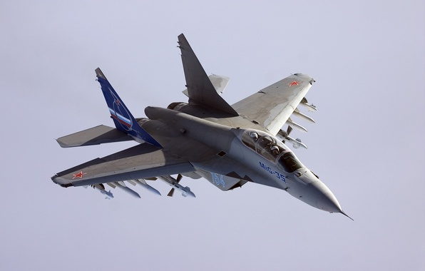 Picture flight, fighter, missiles, The MiG-35