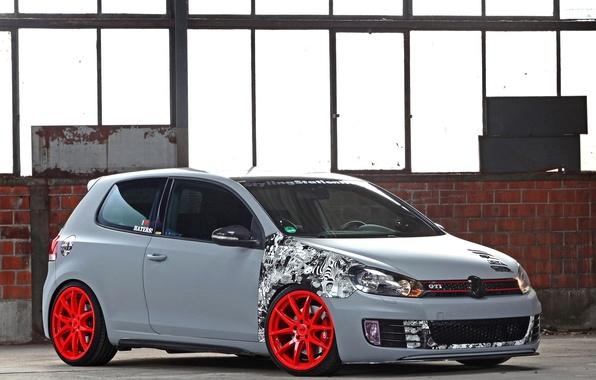 Picture Volkswagen, Machine, Grey, Machine, Car, Car, Cars, Golf, GTI, Grey, Cars, Volkswagen, Matt, CFC, Golf