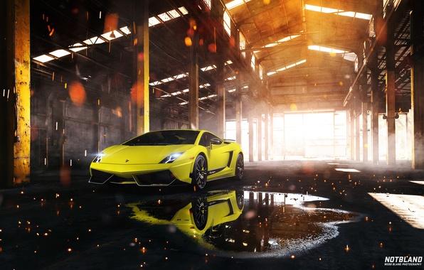 Picture reflection, Lamborghini, puddle, Superleggera, Gallardo, LP 570-4, notbland, Webb Bland